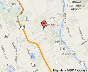 Map location of Barrhaven on the Green Driving Range