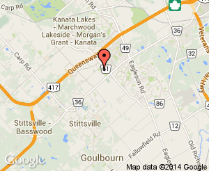 Map location of Kanata Recreation Complex