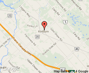 Map location of Kinburn Community Centre