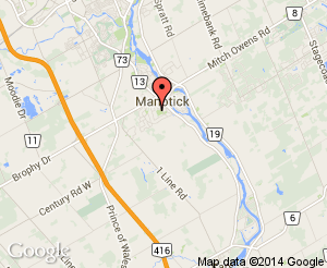 Map location of Manotick Arena