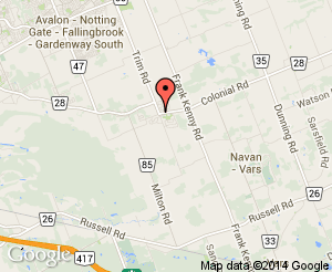 Map location of Navan Memorial Community Centre