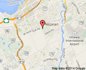 Map location of Nepean Sportsplex