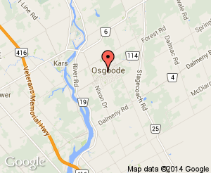 Map location of Osgoode Community Centre