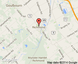 Map location of Richmond Memorial Community Centre