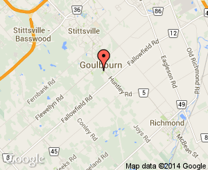 Map location of Goulbourn Middle School