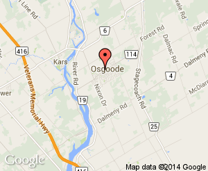 Map location of Osgoode Elementary School