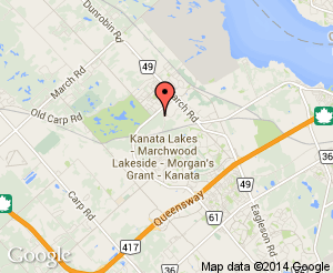 Map location of Richcraft Recreation Complex - Kanata