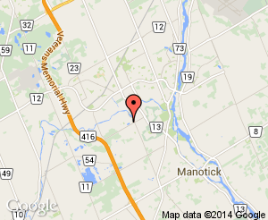 Map location of Minto Recreation Complex - Barrhaven