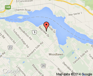 Map location of Constance Bay Community Centre