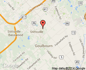 Map location of CARDELREC Recreation Complex (Goulbourn)