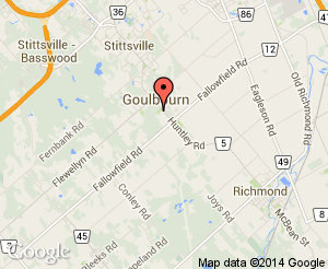 Map location of Goulbourn Town Hall (Municipal Office)