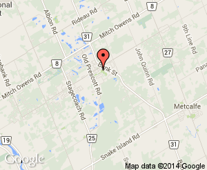 Map location of Greely Community Centre