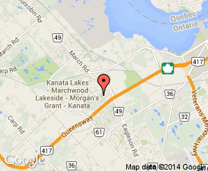 Map location of Kanata Seniors Centre